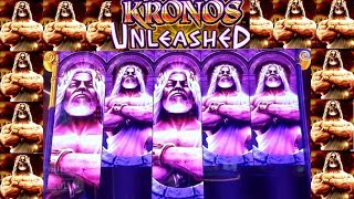 KRONOS UNLEASHED Slot Machine $6 Max Bet Bonuses WON | NICE SESSION | Live Slot Play w/NG Slot