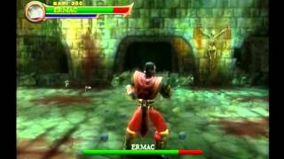 Mortal Kombat Shaolin Monks - Ermac and Shao Khan Gameplay - By Ennohex