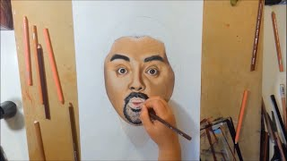 Time Lapse Drawing of Gabriel Iglesias by Ash...