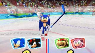 Mario & Sonic at the Olympic Winter Games DS - Ice Hockey