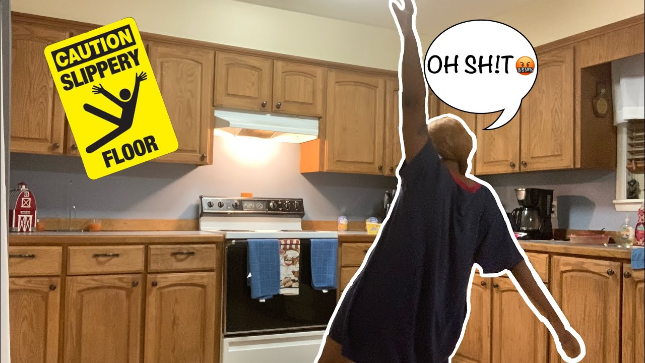 Slippery Floor Prank On My Mom Gone Wrong Youtube