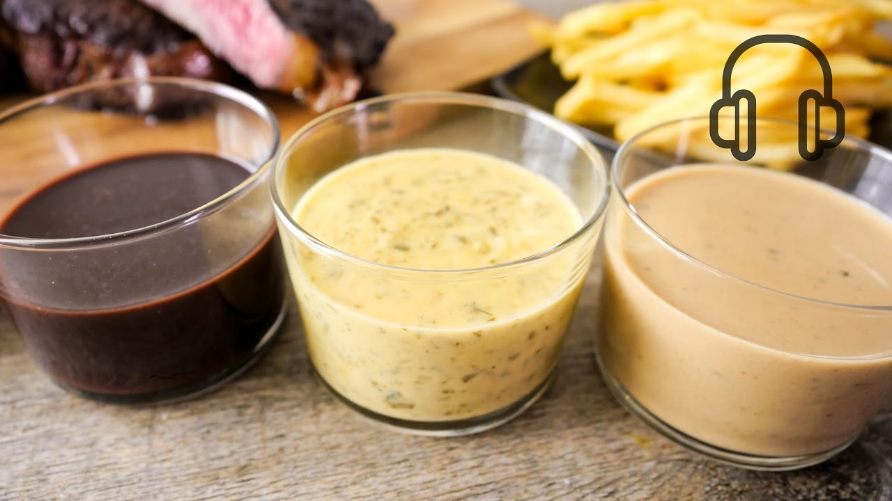 3 French Steak Sauce Recipes Youtube
