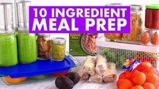 $35 & 10 INGREDIENT Meal Prep for the Week CHALLENGE! - Mind Over Munch