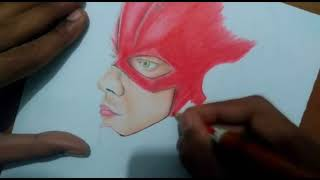 Desenhando O Flash ( The Flash ) - Speed draw