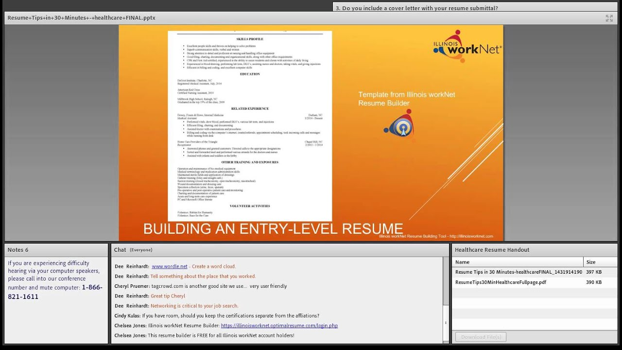 Healthcare Resume Tips August 6 2014 Youtube
