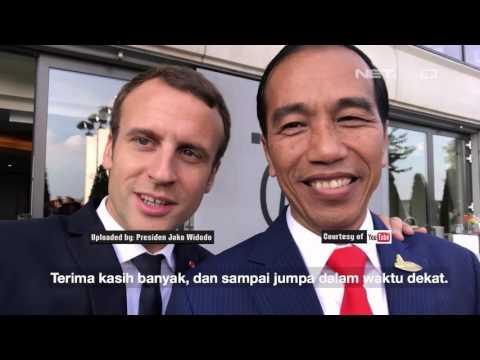 Vlog Terbaru Presiden Jokowi Bersama Presiden Emmanuel Macron - NET16