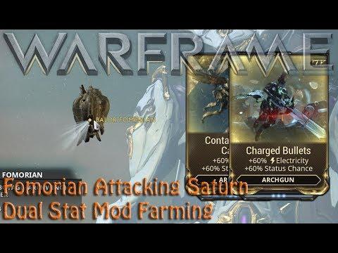 Warframe - Fomorian Attacking Saturn [Dual Stat Mod Farming] thumbnail