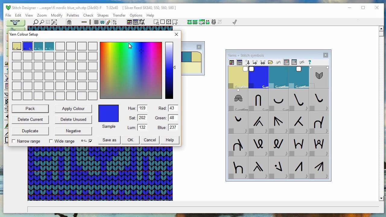 DesignaKnit 8 Tutorial Muster Fehlermeldung! - YouTube