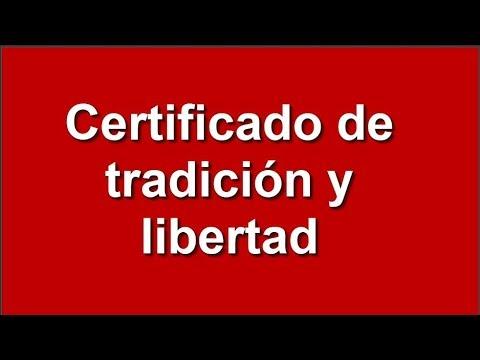 bajar certificado de tradicion y libertad por internet