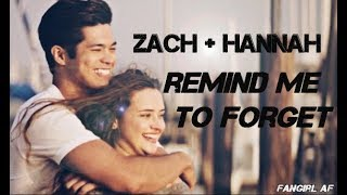 Gambar cover Zach + Hannah 2x06 [Remind Me to Forget You]
