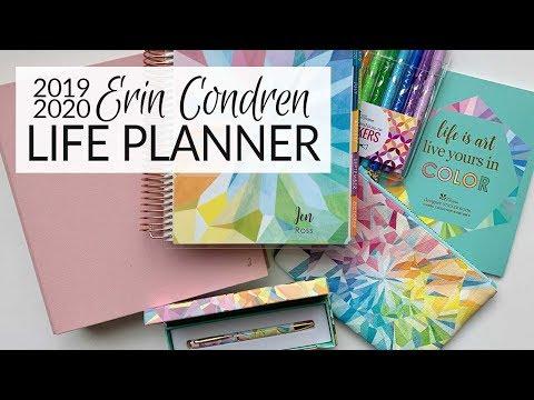 Planner Preview | Erin Condren 2019-2020 Life Planner