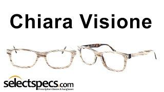 Square Wayfarer-Style Glasses for Men - Chiara Visione UCV1007 Brown Marble on Havana
