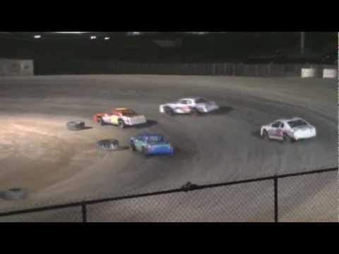 Texas Thunder Speedway IMCA Stock Car Heat and Feature 3/16/13