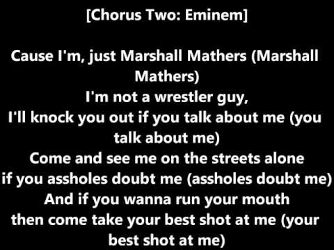 Eminem  Marshall Mathers Lyrics