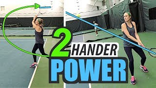 Two Handed Backhand POWER - tennis lesson