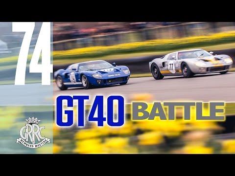 Thrilling 6 lap GT40 Battle
