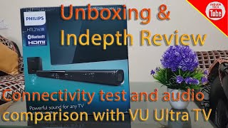 Philips HTL2163B Soundbar Unboxing and Indepth review