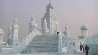 Unglaubliches Eis-Schloss Harbin Festival in China