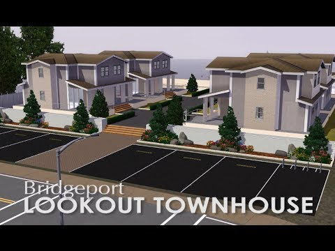 The Sims 3 - Speed Build - The Lookout Bridgeport Townhouse