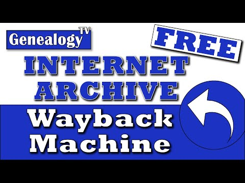 Free Internet Archive & Wayback Machine