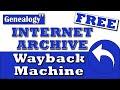 Free Internet Archive & Wayback Machine