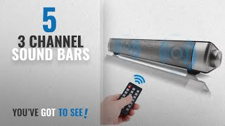 Top 5 3 Channel Sound Bars [2018]: Sanwo Black Bluetooth Subwoofer Wired and Wireless Bluetooth Home