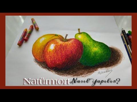 Pastel boya Dersleri Elma nasıl Çizilir / Naturmort