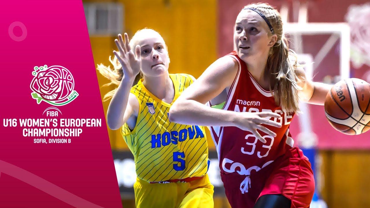 Kosovo v Norway - Full Game - FIBA U16 Women's European Championship Division B 2019