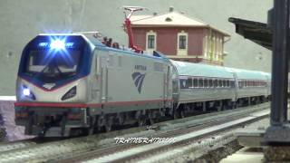 Modern Ho Scale Amtrak Trains Compilation!