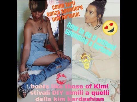 Only 3 Minute Craft! Kim Kardashian Denim Boots, Stivali Estivi