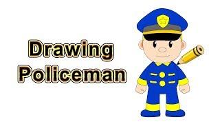 Drawing Policeman @ Citi Heroes Cartoon