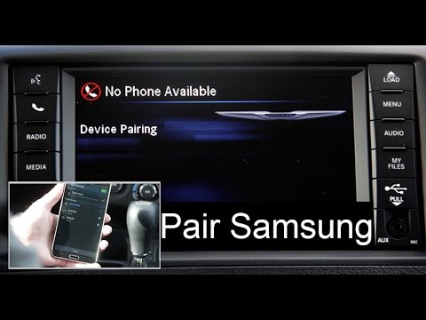 Chrysler Phone Pair Bluetooth Setup Uconnect 430 System w/ Samsung Smart Phone Town & Country Van