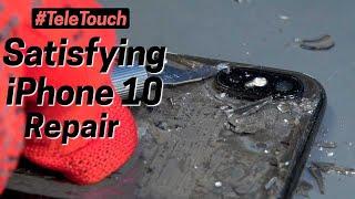 Satisfying iPhone 10 back glass repair