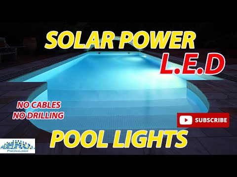 Solar power LED swimming pool lights