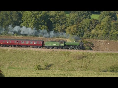 61306 Mayflower storms through Crofton and Newton St Loe with The Cathedrals Express 22/09/2015