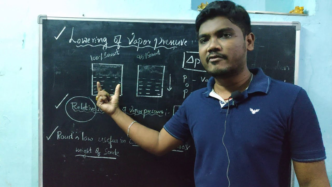 Chemistry I Class XII I Solutions I Relative lowering of ...