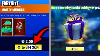 *HOW* to SEND SKINS to YOUR FRIENDS on FORTNITE - NEW GIFTING FEATURE in FORTNITE BATTLE ROYALE!