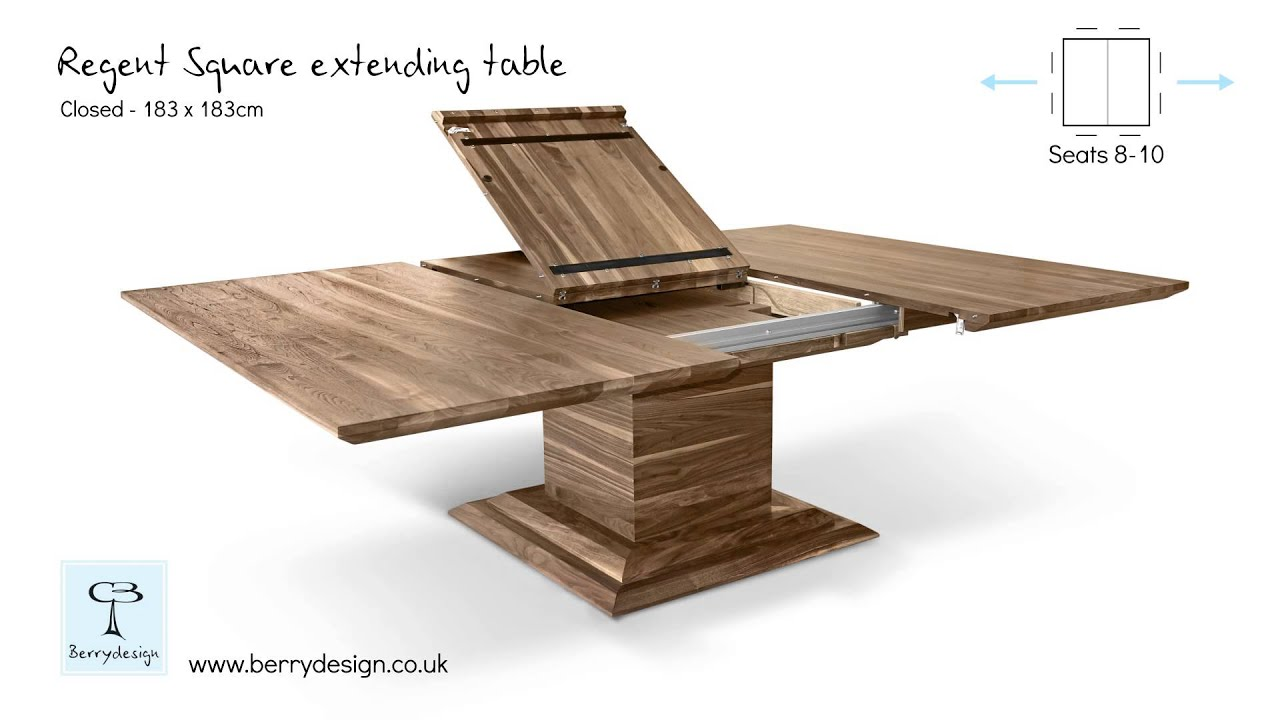 Ordinaire Regent Square Extending Table Mechanism By Berrydesign   YouTube
