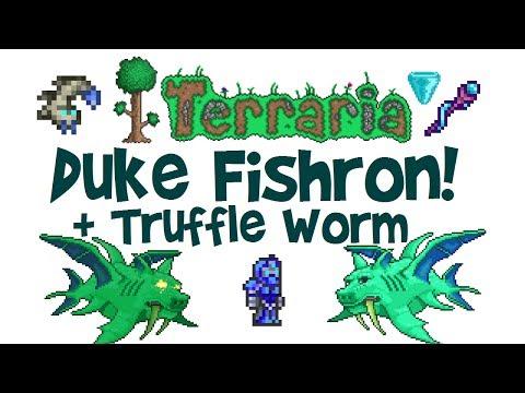 Terraria Duke Fishron Guide + EASY Truffle Worm Farm! (Drops, Boss Fight, Ranger, Tutorial, 1.3)