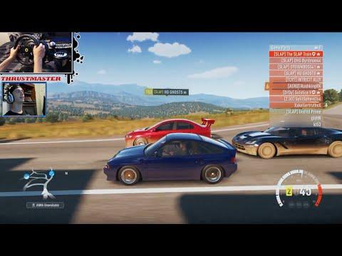 Forza Horizon 2 Honda CRX Build D15 FWD/RWD Online w/Thrustmaster Wheel/Face Cam - SLAPTrain - 동영상