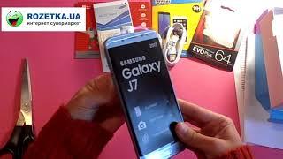 Распаковка Samsung Galaxy J7 (2017) J730 Silver из Rozetka.com.ua