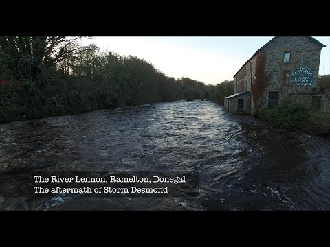 The Aftermath Of Storm Desmond - Ramelton, Donegal