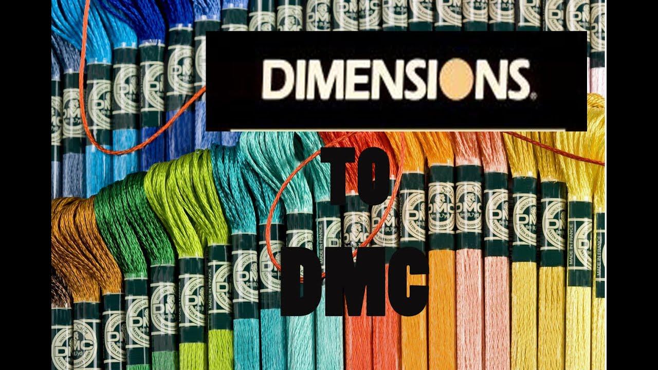 Нитки для вышивки dimensions