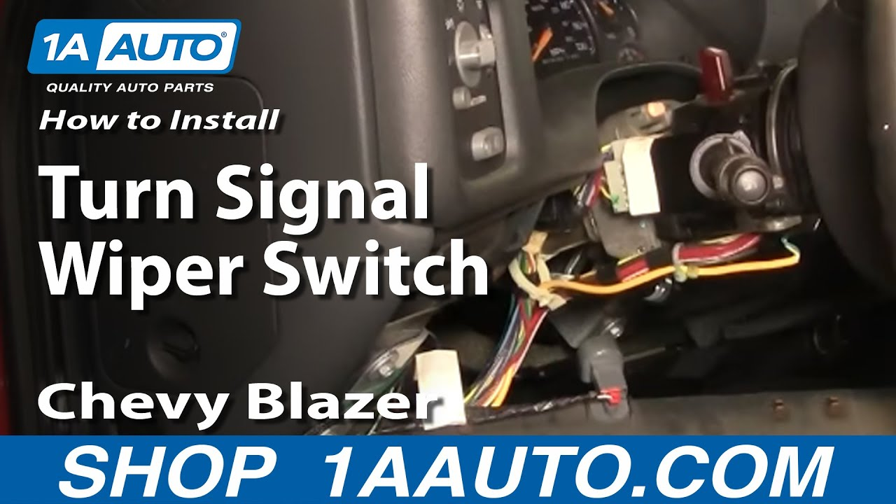 maxresdefault how to install replace turn signal wiper switch chevy blazer gmc 2000 s10 turn signal wiring diagram at edmiracle.co
