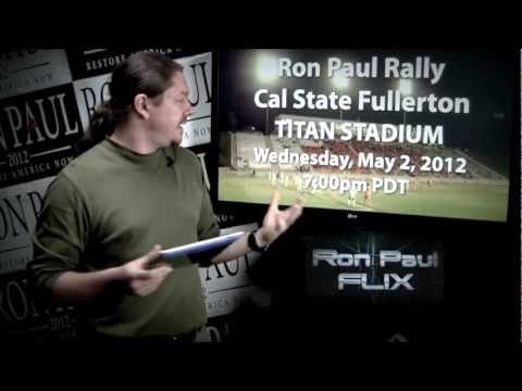 Ron Paul FLIX Daily News - May 1 2012 - YouTube Removes Ron Paul Channel - Delegate Wins!