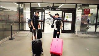 راح نسافر كوريا مع بعض ( وقفتني الشرطة بالمطار !!)