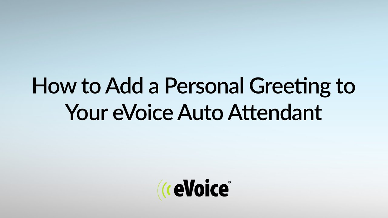 How to add a personal greeting to your evoice virtual phone number how to add a personal greeting to your evoice virtual phone number m4hsunfo