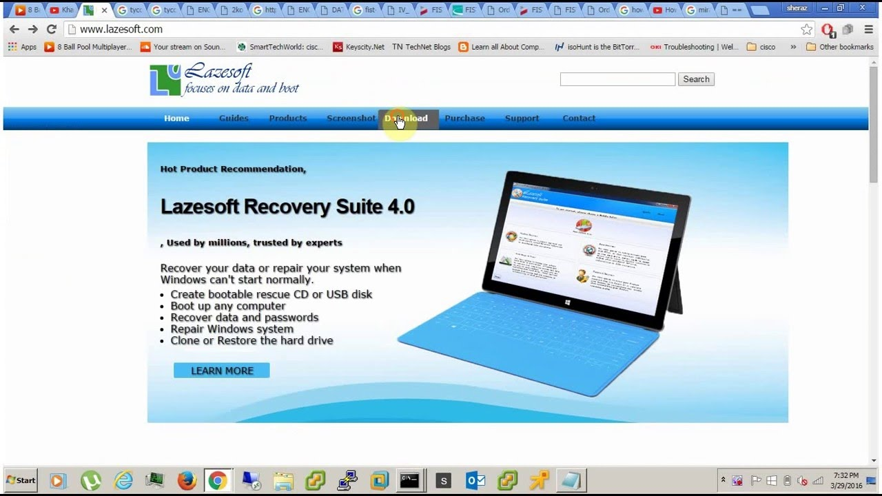 lazesoft recover my password youtube