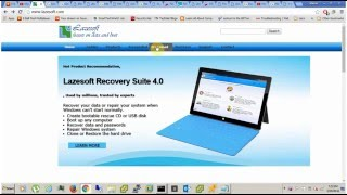 LAZESOFT WINDOWS RECOVERY, Windows Password Reset Bootable ISO