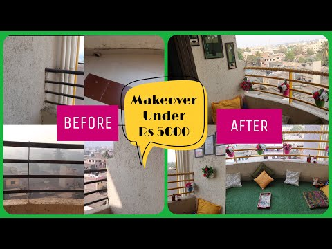 BALCONY MAKEOVER UNDER RS 5000